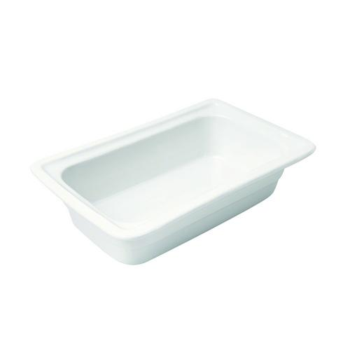 PAN PORCELAIN WHITE 1/4 SIZE 65X265X165MM RYNER