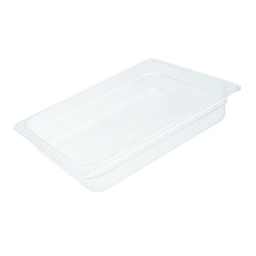 FOOD PAN POLY CLEAR 1/2 SIZE 150X265X325MM