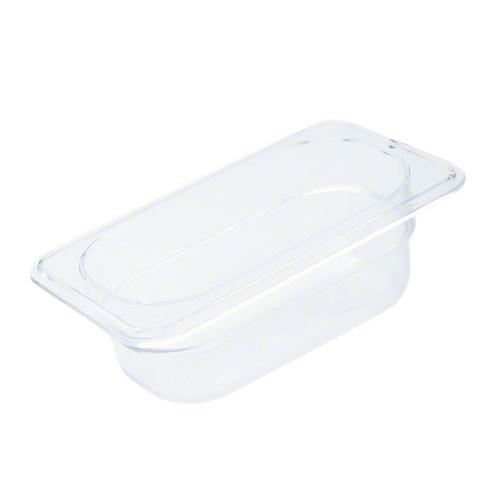 FOOD PAN POLY CLEAR 1/9 SIZE 100X108X176MM