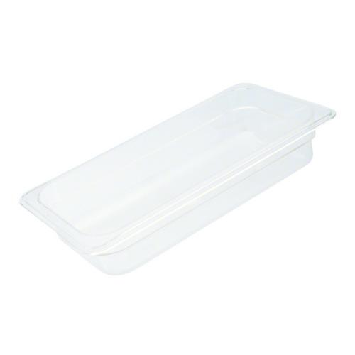 FOOD PAN POLY CLEAR 1/4 SIZE 100X162X265MM