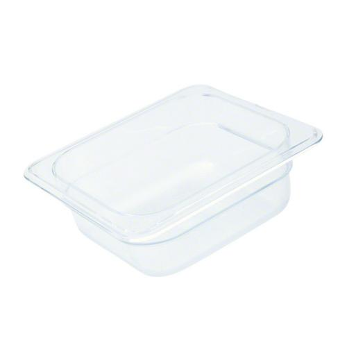FOOD PAN POLY CLEAR 1/6 SIZE 150X162X176MM