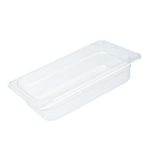 FOOD PAN POLY CLEAR 1/3 SIZE 100X176X325MM