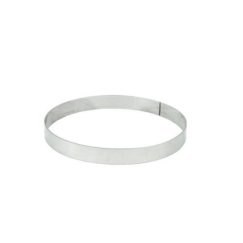 TART BAKING RING S/S ROUND 140X20MM
