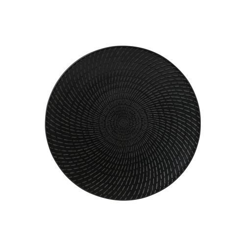 PLATE ROUND COUPE 155MM BLACK SWIRL ZEN LUZERNE