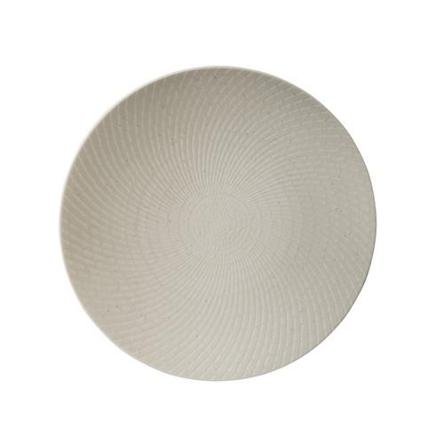 PLATE ROUND COUPE 205MM WHITE SWIRL LUZERNE