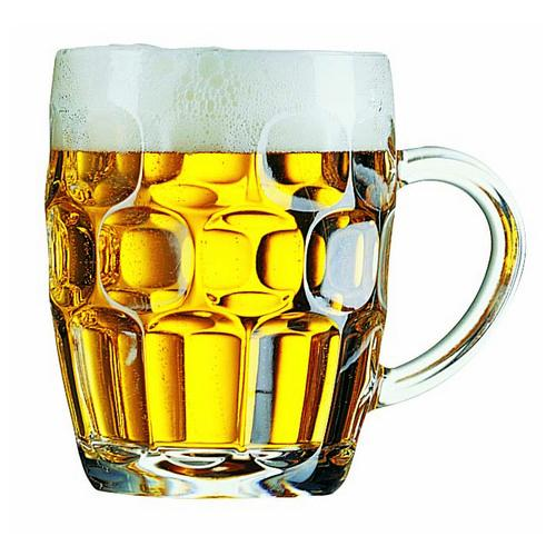 BEER MUG GLASS 285ML CERTIFIED & NUCLEATED BRITANNIA ARCOROC