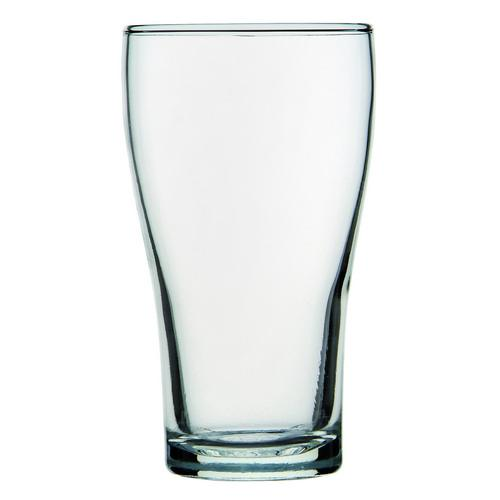 BEER GLASS 425ML CERTIFIED & NUCLEATED CONICAL CROWN