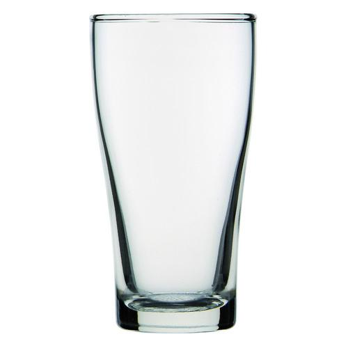 BEER GLASS 285ML CERTIFIED & NUCLEATED CONICAL CROWN