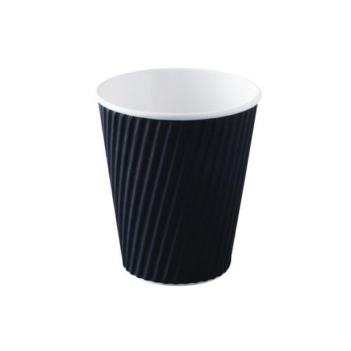CUP PAPER HOT DRINK RIPPLEWRAP BLACK 240ML (CT1000)