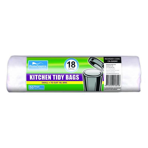KITCHEN TIDY BAG 18L WHITE ROLLS 450X540MM (CT1000)