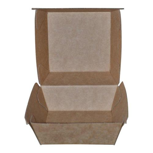 BURGER BOX BETA BOARD BROWN 105X105X85MM (CT250)