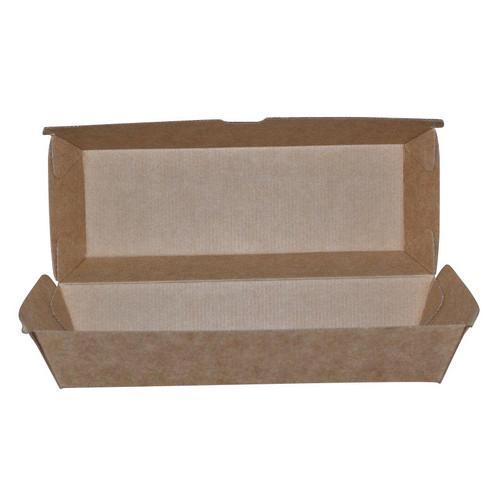 HOT DOG BOX BETA BOARD BROWN 208X70X75MM (CT200)