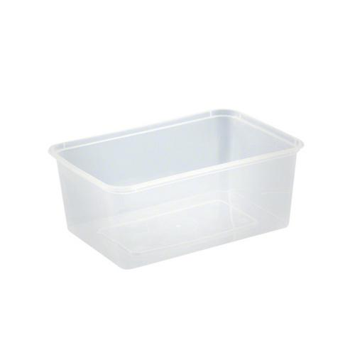CONTAINER RECT PLASTIC TAKEAWAY 750ML (PK50)