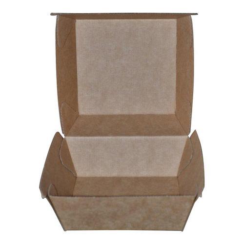 SNACK BOX LARGE BETA BOARD BROWN 205X107X77MM (CT200)