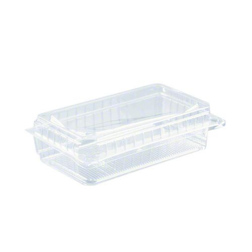 SALAD PACK PLASTIC CLEAR HINGED SUPER 215X130X65MM