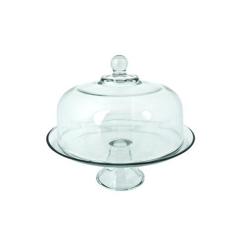 CAKE STAND  GLASS 285MM PRESENCE ANCHOR