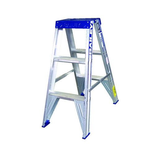 LADDER ALUM 3 STEP DOUBLE SIDED 900MM BIG TOP BAILEYS