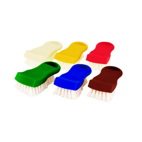 BRUSH SCRUBBING 150MM COLOUR CODED RED