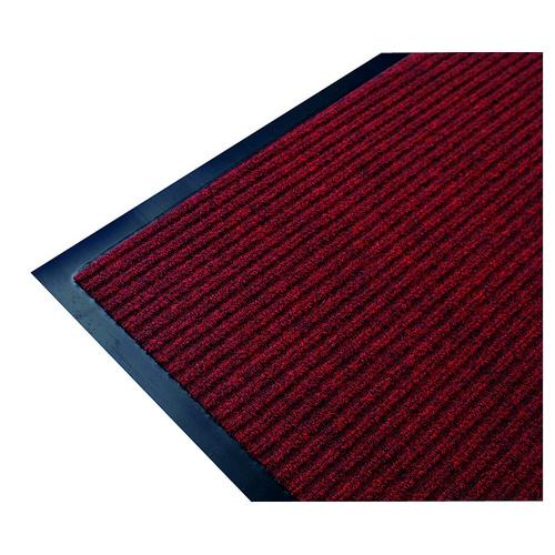 MAT ENTRANCE RIBBED 600X900MM RED