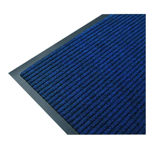MAT ENTRANCE RIBBED 900X1500MM BLUE