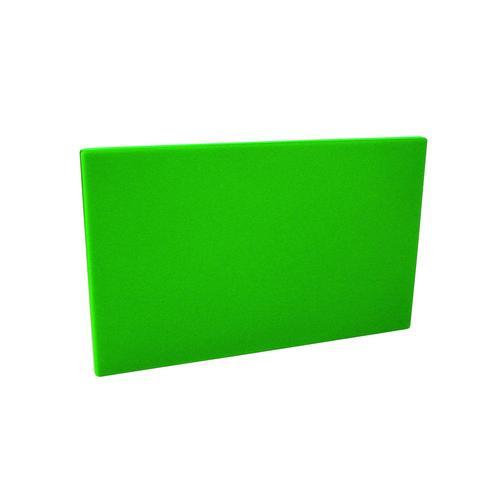 CUTTING BOARD POLY GREEN 380X510X19MM