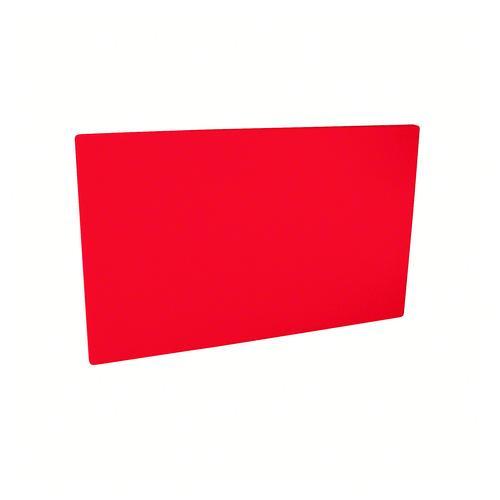 CUTTING BOARD POLY RED 380X510X19MM