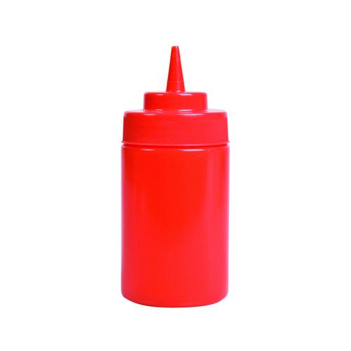 SAUCE / SQUEEZE BOTTLE PLASTIC RED 360mL