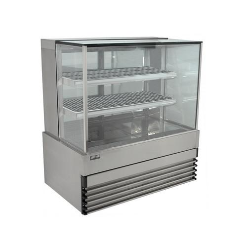 HEATED DISPLAY CABINET SQUARE GLASS 1200MM KOLDTECH