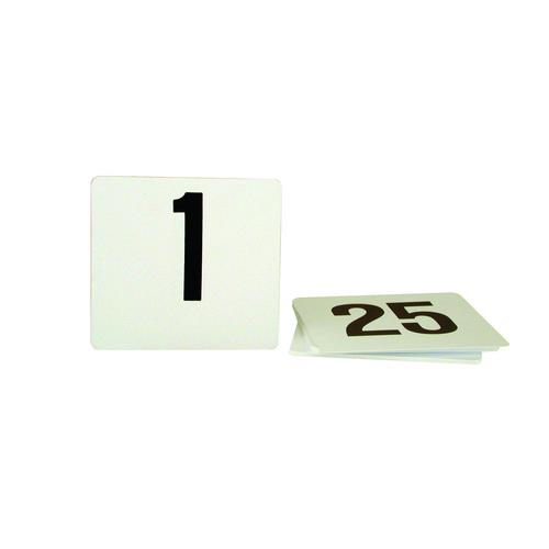 TABLE NUMBER SET 1-200 BLACK ON WHITE 105X95MM