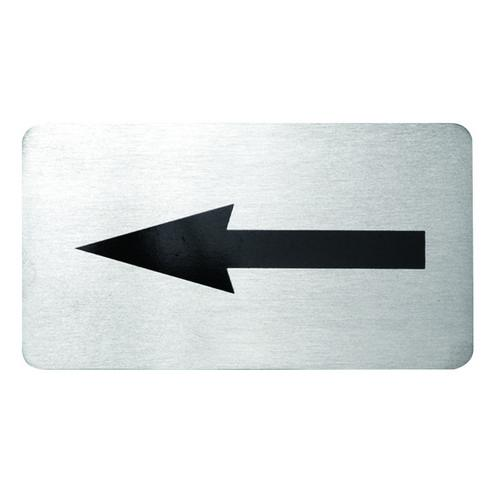 SIGN - ARROW S/S 110X60MM