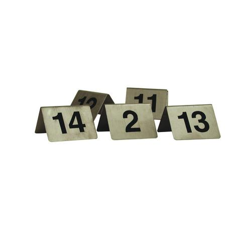 TABLE NUMBER SET 91-100 S/S A-FRAME 50X50MM