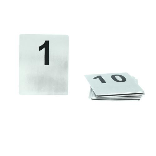 TABLE NUMBER SET 91-100 S/S FLAT 100X80MM