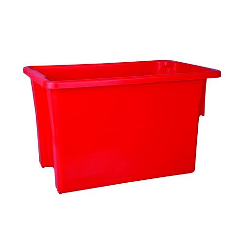 CRATE STORAGE #15 68L 645x413x397MM RED NALLY