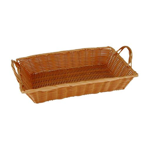 BASKET DISPLAY POLYP RECT 450X300X80MM W/HANDLE