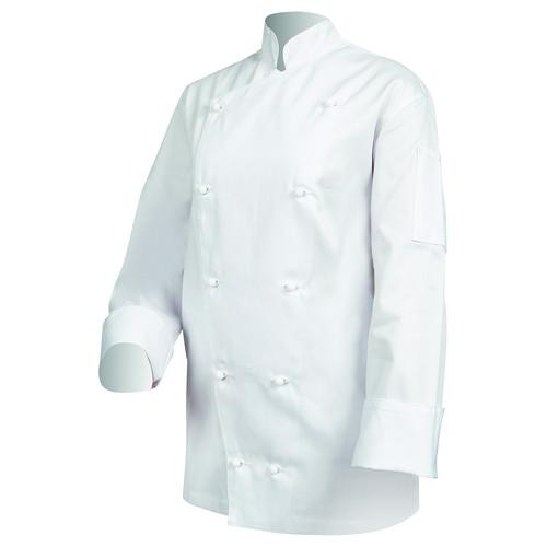 CHEF JACKET TRADITIONAL P/C WHITE LARGE L/SL PROCHEF