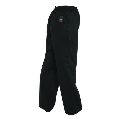 CHEF PANTS DRAWSTRING P/C BLACK LARGE PROCHEF