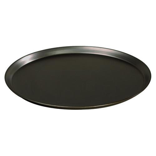PIZZA PLATE BLACK STEEL 230MM