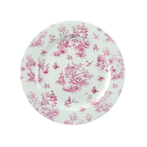 PLATE ROUND 215MM CRANBERRY TOILE CHURCHILL