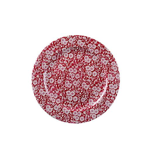 PLATE ROUND 305MM CRANBERRY VICTORIAN CALICO CHURCHILL