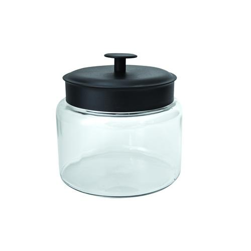 JAR STORAGE GLASS 2.9L BLACK LID MONTANA ANCHOR