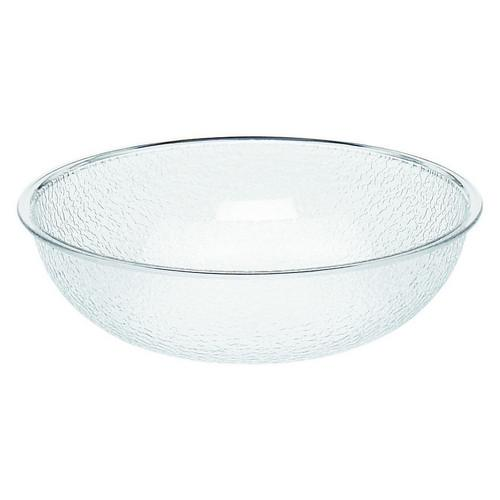 BOWL POLY ROUND PEBBLE CLEAR 254MM CAMBRO