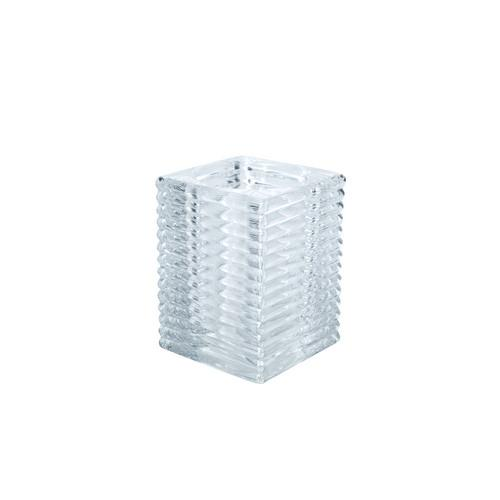 TABLE LAMP BASE GLASS SQUARE CLEAR KELLY