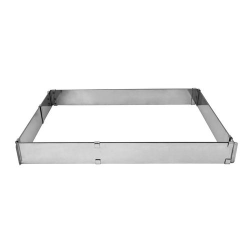 CAKE BAKING FRAME S/S RECT ADJUSTS 200X240 - 380X460MM GEFU