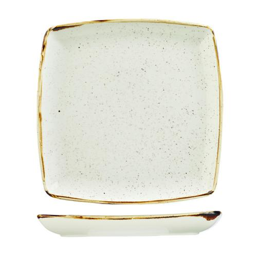 PLATE SQUARE DEEP 268X268MM BARLEY WHITE STONECAST CHURCHILL