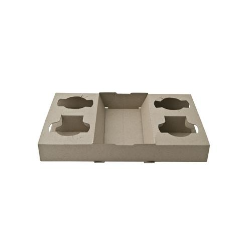 CARRY TRAY 4 CUP CARDBOARD BROWN (CT100)
