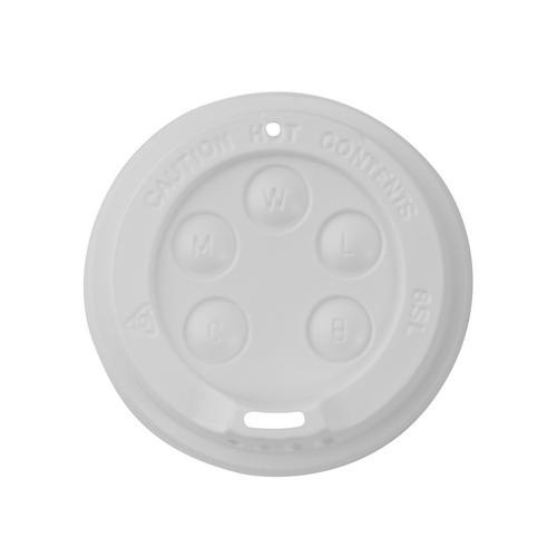LID PLASTIC SIPPA WHITE FOR FOAM CUP 237ML (PK100)
