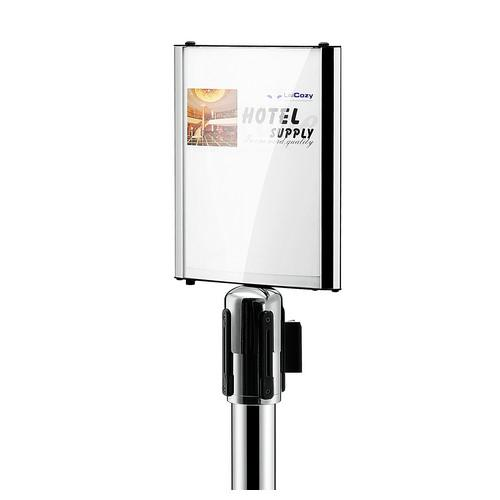 SIGN HOLDER A4 S/S FOR COWD CONTROL STAND RETRACTA Q