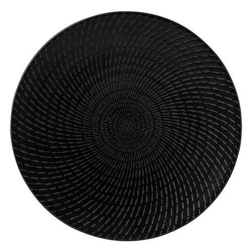 PLATE ROUND COUPE 310MM BLACK SWIRL ZEN LUZERNE