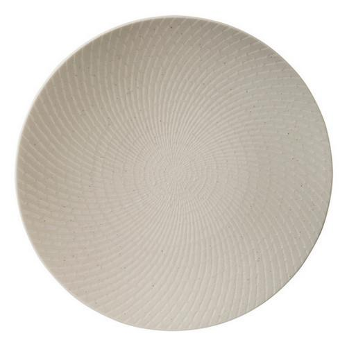 PLATE ROUND COUPE 310MM WHITE SWIRL LUZERNE