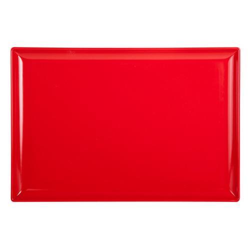 PLATTER RECT 350X240MM RED MELAMINE RYNER